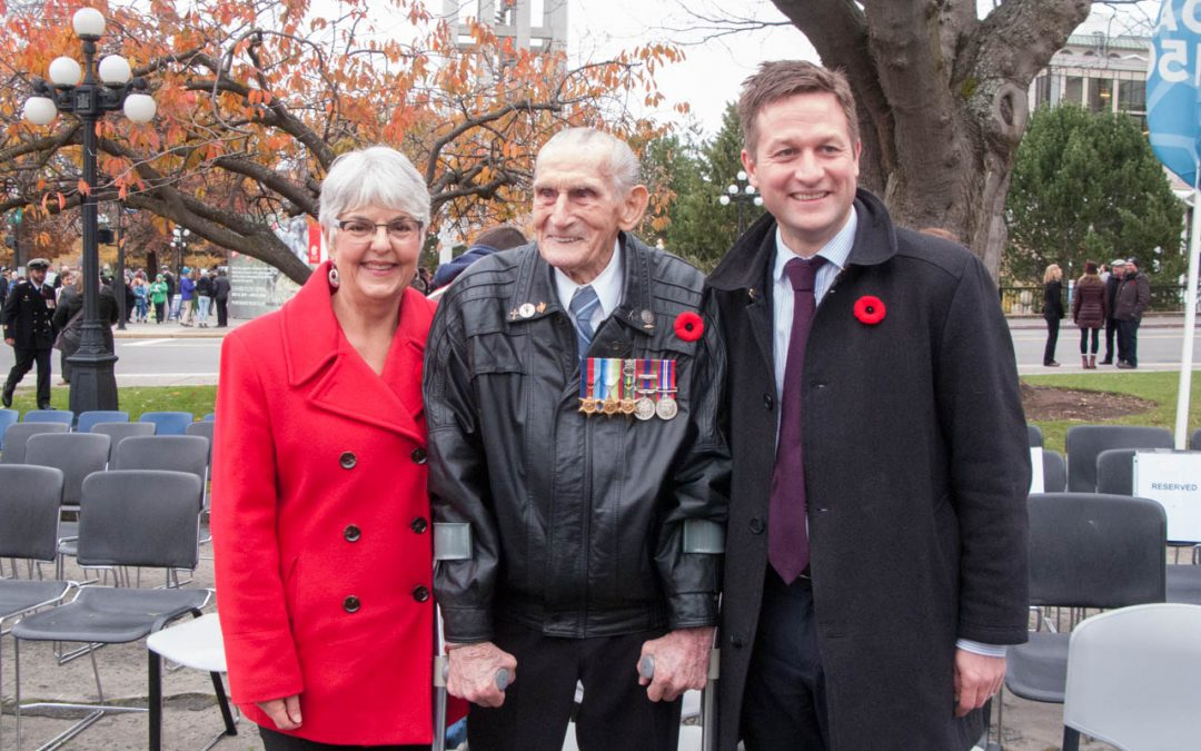 At the Cenotaph in Victoria